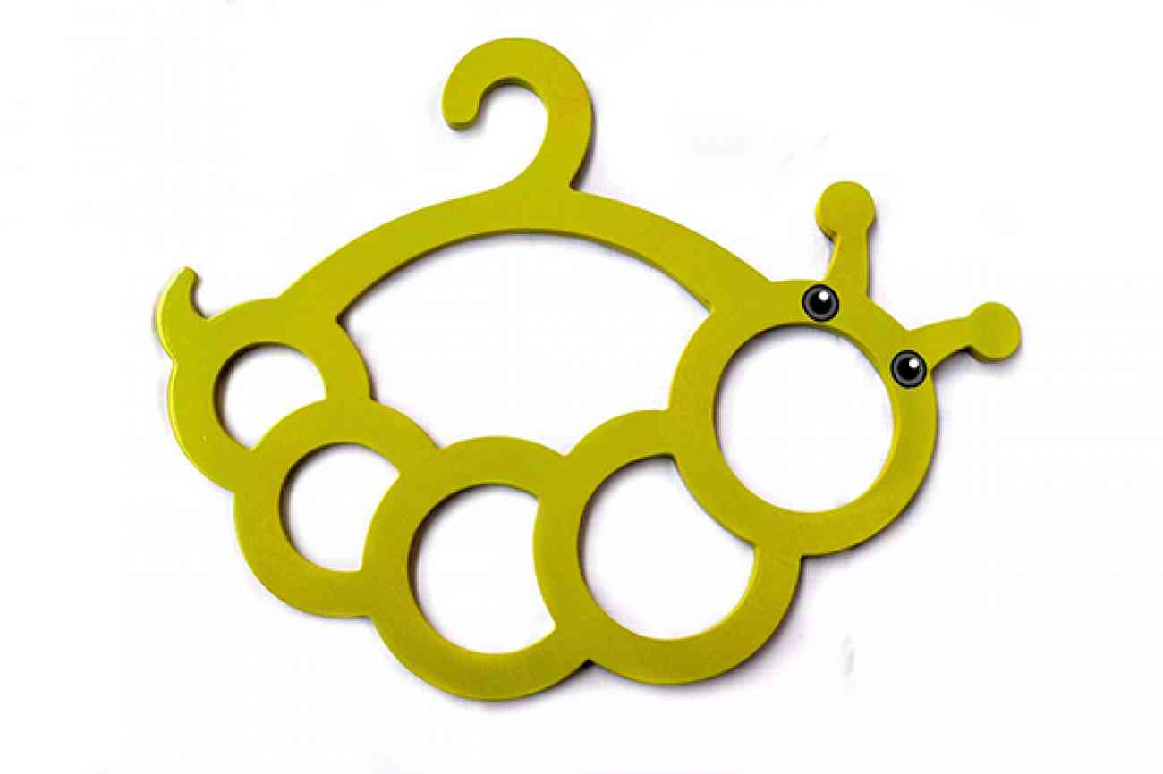 Caterpillar Wooden Scarf Hanger